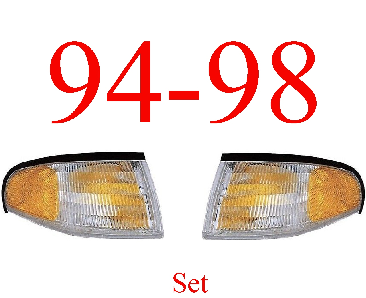 94-98 Mustang 2Pc Parking Light Kit